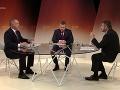 Andrej Kiska a Peter Pellegrini diskutovali v relácii RTVS O 5 minút 12