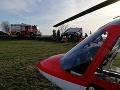 FOTO Pri obci Viničné sa zrazili dve autá: Ťažko zraneného mladého vodiča previezol vrtuľník