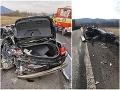 PRÁVE TERAZ Desivá nehoda na R1: FOTO Kamión zdemoloval auto, vodička sa druhýkrát narodila!