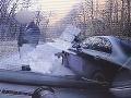 Autentické VIDEO z Pezinskej Baby: Mladíkova nebezpečná jazda na drahom aute nezostala bez následkov