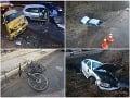 Osudná hodina na strednom Slovensku! FOTO Teror na cestách, autá končili mimo cesty