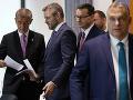 Andrej Babiš, Peter Pellegrini, Mateusz Morawiecki a Viktor Orbán