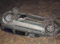 Ako kaskadér! FOTO Peter otočil auto na strechu, desivé, čo nehode predchádzalo