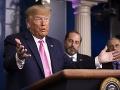 Donald Trump na tlačovej konferencii o koronavíruse