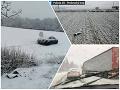 Slovensko opäť zasypal sneh: FOTO Chaos na cestách, mnohé úseky hlásia problémy