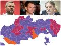 VOĽBY 2020 Politická mapa