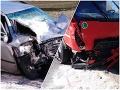 Smrť v aute! FOTO Vodič (†41) sa čelne zrazil s kamiónom, tragédiu pri Novom Meste nad Váhom vyšetruje polícia