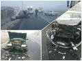 PRÁVE TERAZ Hromadná nehoda v Lučenci: FOTO Úsekom neprejdete, zrazilo sa šesť áut