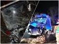 Nočný horor pri Ružomberku! FOTO Kolízia dodávky a autobusu, dvaja mŕtvi aj zranení, obavy z koronavírusu