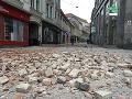 FOTO Zemetrasenie v Chorvátsku: Obrovské škody v uliciach Záhrebu, otrasy bolo cítiť až v Rakúsku