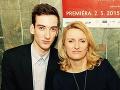 Manželka Adyho Hajdu Janka so synom Romanom