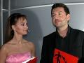 Karin Olasová v roku 2004 moderovala silvestrovský program s Michalom Hudákom.