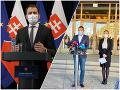 KORONAVÍRUS Matovič na Pellegriniho hádže problém s osadami: Nie som fackovací panák, vyhlásil expremiér