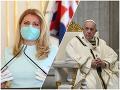 KORONAVÍRUS Prezidentka Čaputová telefonovala s pápežom Františkom: Slováci, nestrácajte nádej!
