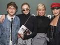 Yolanda Hadid so svojimi vydarenými deťmi.