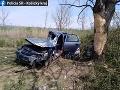 Tragická dopravná nehoda pri Čečejovciach: Jedna osoba zomrela, druhá bojuje o život