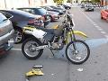 FOTO Vážna nehoda v Modre: Čelná zrážka, motocyklista (47) skončil v nemocnici