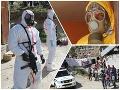 Unikátne FOTO z akcie NAKA: Vyšetrovanie vraždy a hrozba vírusu, policajti ako z katastrofického trháku!