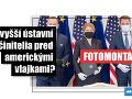 Na Facebooku sa 13. mája 2020 objavil obrázok, ktorý vytváral dojem, že slovenská prezidentka Zuzana Čaputová (uprostred), predseda Národnej rady Slovenskej republiky (NR SR) Boris Kollár (vľavo) a premiér Igor Matovič (vpravo) sa po podpise spoločnej deklarácie o zahraničnopolitickom smerovaní SR fotografovali pred vlajkami USA a EÚ, kým tie slovenské chýbali.