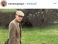Clara McGregor so slávnym otcom na archivnej fotografii
