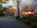 VIDEO Ničivý požiar v Česku: Obľúbenú turistickú destináciu zachvátili plamene