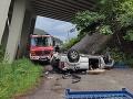 PRÁVE TERAZ Tragická nehoda pri Ružomberku, jeden mŕtvy (†34)! Auto sa zrútilo z mosta, desivé FOTO