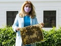 V Prezidentskej záhrade pribudol zaujímavý objekt: Včely nepatria len na vidiek, tvrdí Čaputová