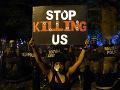 Protesty neďaleko Bieleho domu vo Washingtone