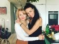 Agáta Hanychová s mamou - herečkou Veronikou Žilkovou.