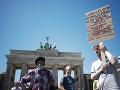 Obyvatelia Nemecka vyšli do ulíc, búrili sa proti smrti Afroameričana Floyda