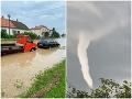 Slovensko opäť trápia búrky: Na Záhorí voda zaplavila viaceré cesty, VIDEO desivá tromba pri Košiciach