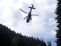 Horskí záchranári zachraňovali turistku: Prepadla cez zábradlie, na pomoc letel aj vrtuľník