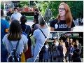 Ľudia v Bratislave protestovali za odstúpenie Kollára: FOTO Dôvodom bola jeho diplomová práca