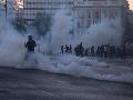 Počas protestov v Grécku