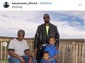 Kanye West s otcom a deťmi