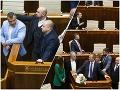 FOTO Okupácia pultíka v parlamente sa zmenila na prehliadku vtipov: Okamžité spomienky na Beblavého