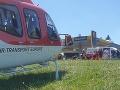 FOTO Nehoda pri Turčianskych Tepliciach: Mladá motorkárka (21) si zlomila nohu, letel po ňu vrtuľník