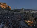 Večerné divadlo v gréckych