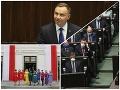 Inaugurácia tesného víťaza poľských prezidentských volieb: FOTO Protest opozície v dúhových farbách!