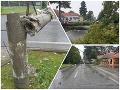Slovensko zasiahli búrky: Platí VÝSTRAHA! Desivý pohľad do Zlatých Moraviec, zvalilo aj stĺp
