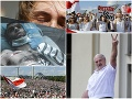 Lukašenko straší podporou Moskvy, v uliciach sa píše história: FOTO Odíď diktátor, odkazuje ľud