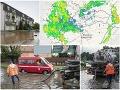 Slovensko bičujú búrky: VIDEO skazy! Senec sa ocitol pod vodou, nočná mora pokračuje aj dnes