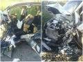 Hrozivé FOTO tragickej havárie pri Kútoch: Šofér (†18) auta sa čelne zrazil s dodávkou, mrazivé detaily