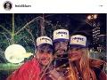 Heidi Klum s manželom a jeho dvojčaťom.