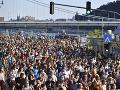 Tisíce ľudí demonštrovali v Budapešti za autonómiu univerzít