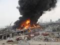 AKTUÁLNE V bejrútskom prístave vypukol obrovský požiar: Mesiac po ničivom výbuchu