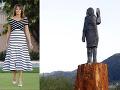 Melanii Trumpovej zhorel strašiak do kapusty, teraz má novú sochu: Opäť je to poriadny bizár!