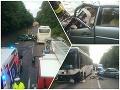 PRÁVE TERAZ Nešťastie pri Veľkom Krtíši: FOTO čelnej zrážky autobusu a auta, hlásia zranených