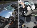 Hrôzostrašná zrážka s kamiónom vo Zvolene: Z auta ostala kopa šrotu, vodič a spolujazdkyňa majú ťažké zranenia