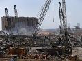 Mesto Bejrút je zničené